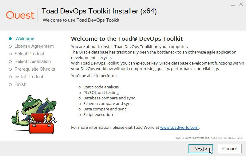 Installing and Configuring Toad DevOps Toolkit