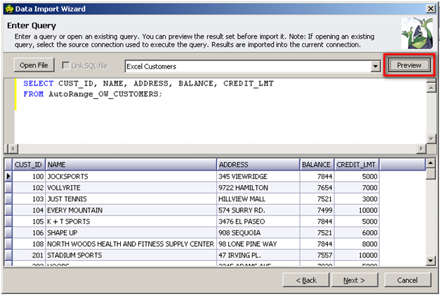 Toad Data Point - Create Tables and Import data with the Import Wizard