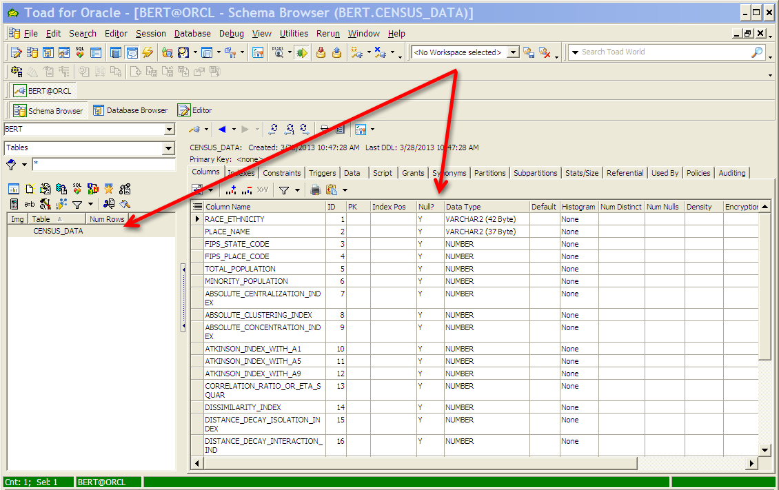 Create and Load Oracle Tables from Excel Spreadsheet using