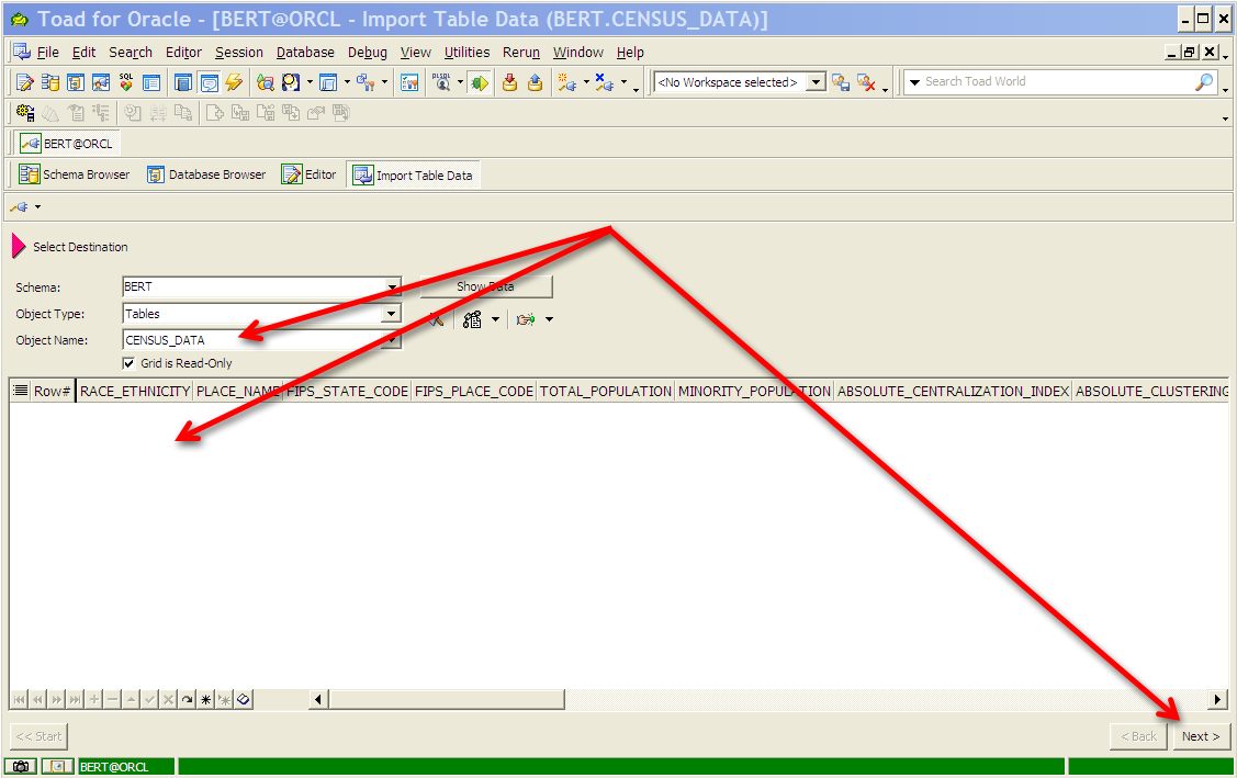 How To Import Only Table Structure In Oracle 11g Exporting