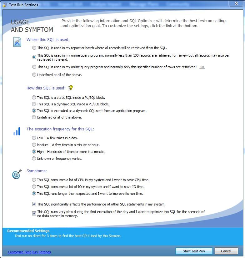 img06 Figure 6: Test Run Settings Window