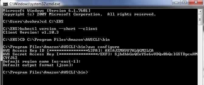 Figure 2. Configuring AWS CLI