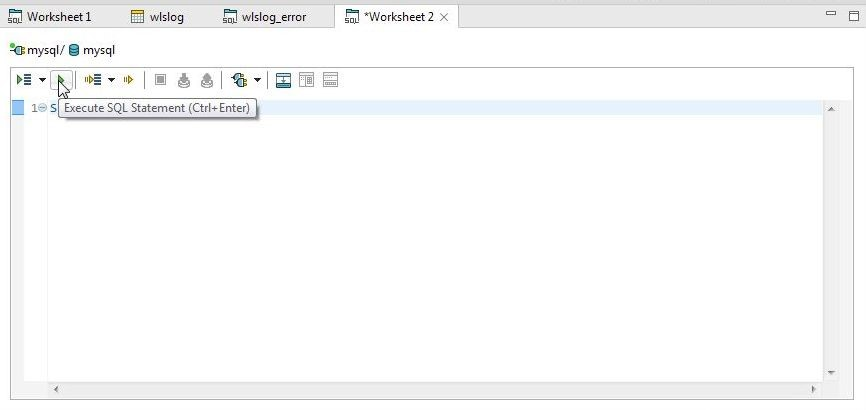 Figure 40. Click on Execute SQL Statement