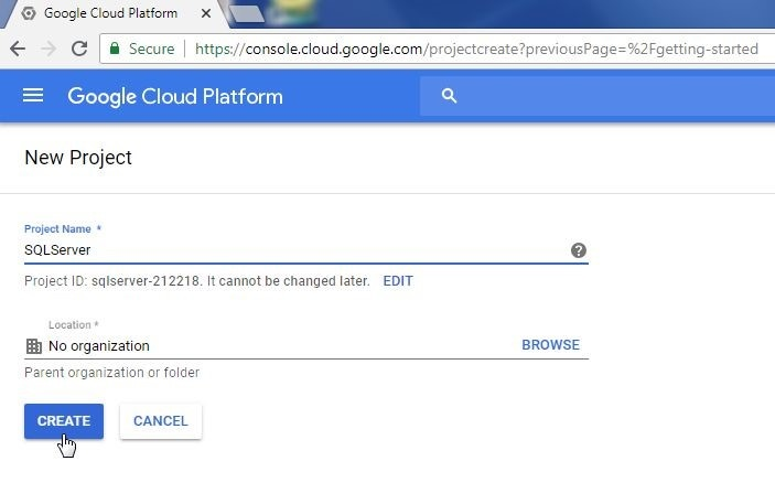 Using Toad for SQL Server with Google Cloud Platform - I