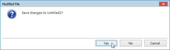 Figure 14. Click Yes to save the SQL worksheet