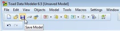 Figure 26. Clicking on Save Model