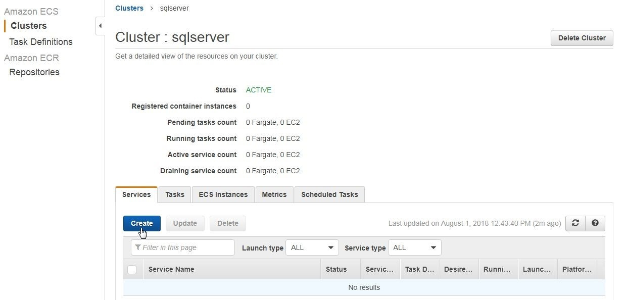 Using Toad for SQL Server with AWS Fargate - I