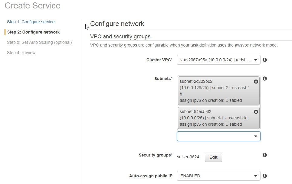 Figure 19. Configuring Networking