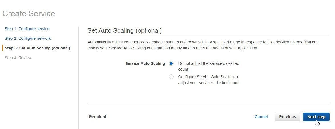 Figure 21.  Setting auto scaling
