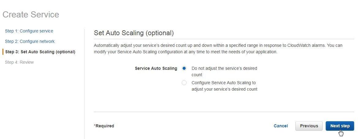 Figure 21.  Setting auto scaling