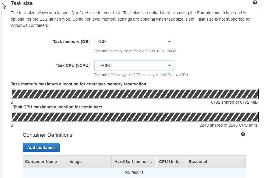 Figure 5, how to specify task memory and task CPU