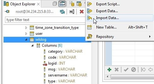 Figure 39. selecting Import Data