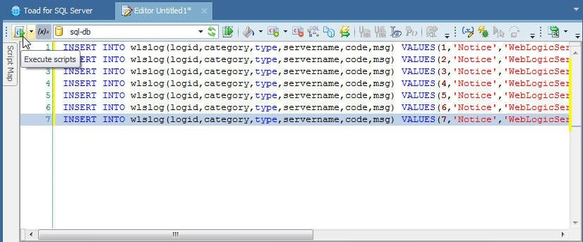 Figure 13. Clicking on Execute Scripts