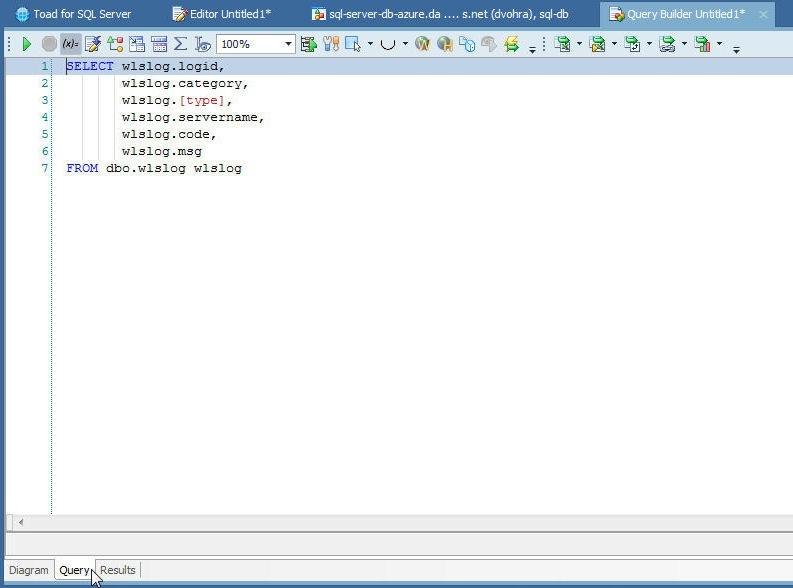 Figure 20. SQL Query Statement