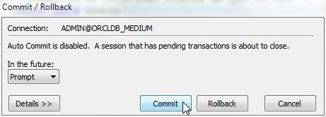 Figure 55. Commit/Rollback pending transactions