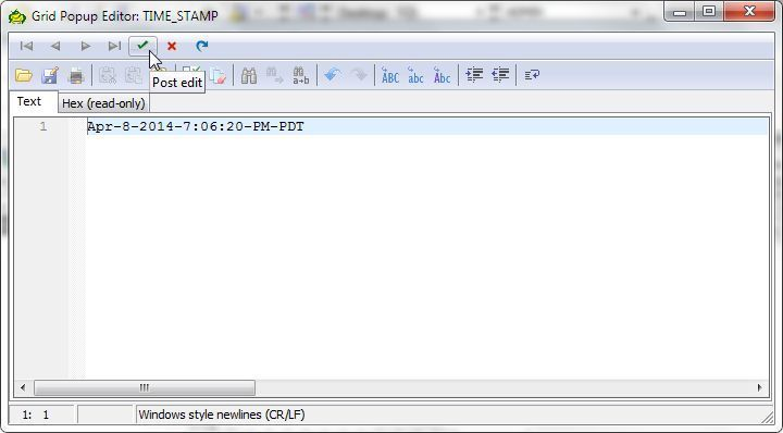 Figure 17. Grid Popup Editor