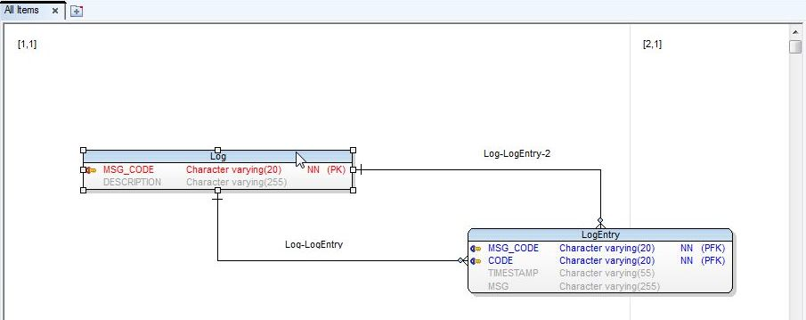 Figure 13. Log Entity>Double-Click