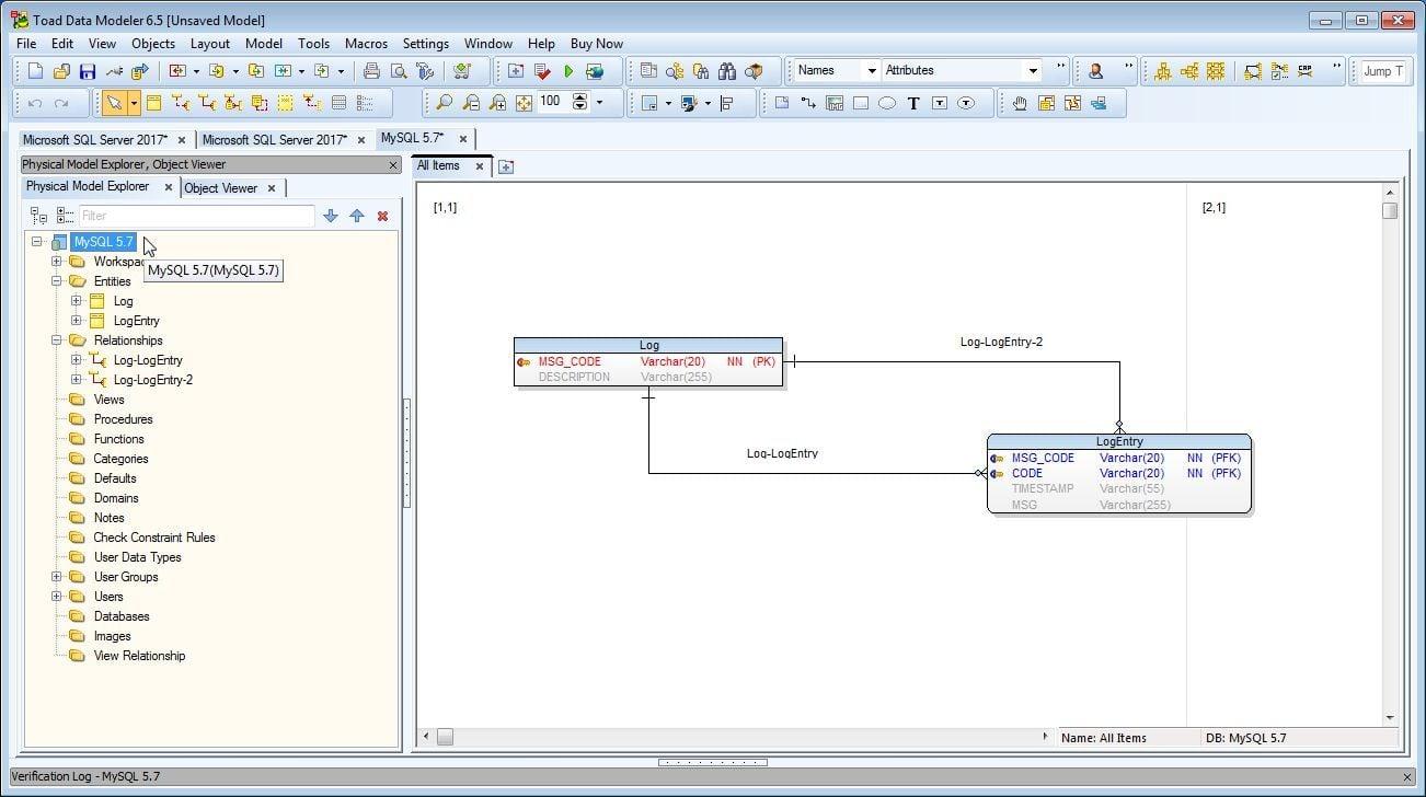 Figure 13. New Model MySQL 5.7