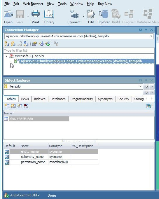 Figure 7. New Connection to SQL Server