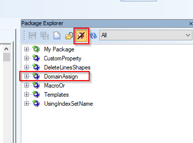 Screen shot showing how to confirm your new package is listed.
