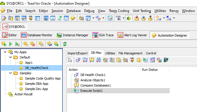 Toad for Oracle Database Health Check