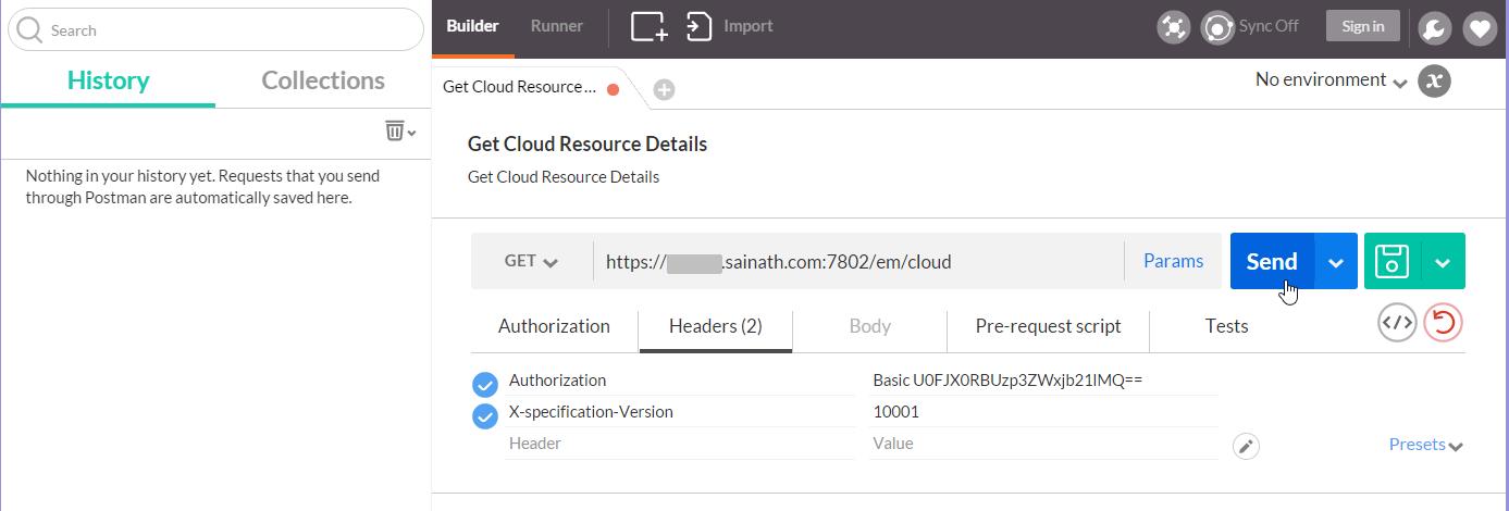 Figure 41. Headers - Get Cloud Resource Details request