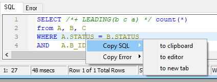 SQL query optimizationtx4