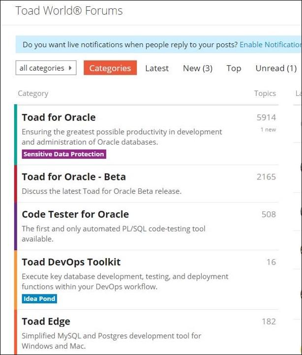 Screen shot of forum view.