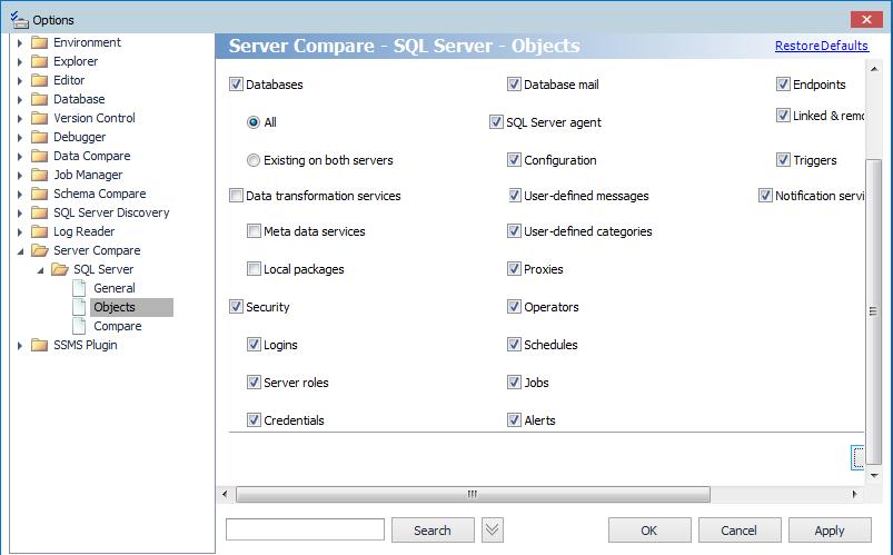 ServerCompareOptions
