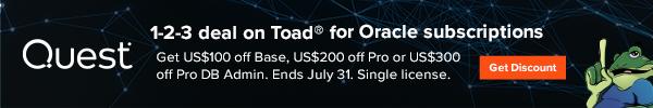 Get US$100 off Base, US$200 off Pro or US$300 off Pro DB Admin. Ends July 31.