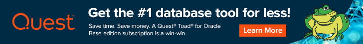 Get the best developer tool for less, try Toad for Oracle Base subscription.