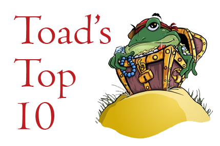 Toad's Top 10, image of Toad for Oracle toad in a treasure chest.
