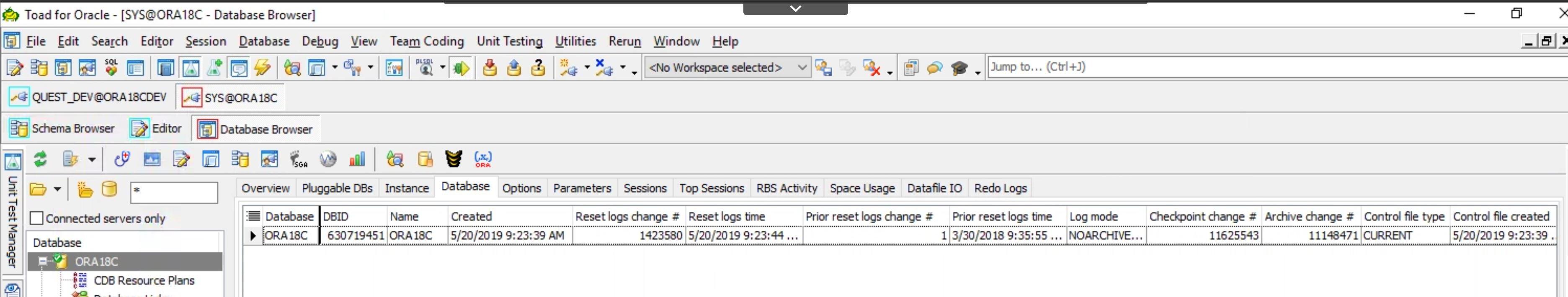 Multi database viewing option.
