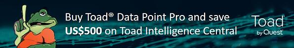 Buy Toad Data Point Pro get $500 off Toad Intelligence Central.