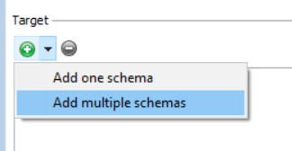 Figure 4: Target: Add multiple schemas