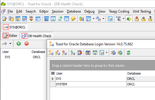 Database health check covers multiple databases