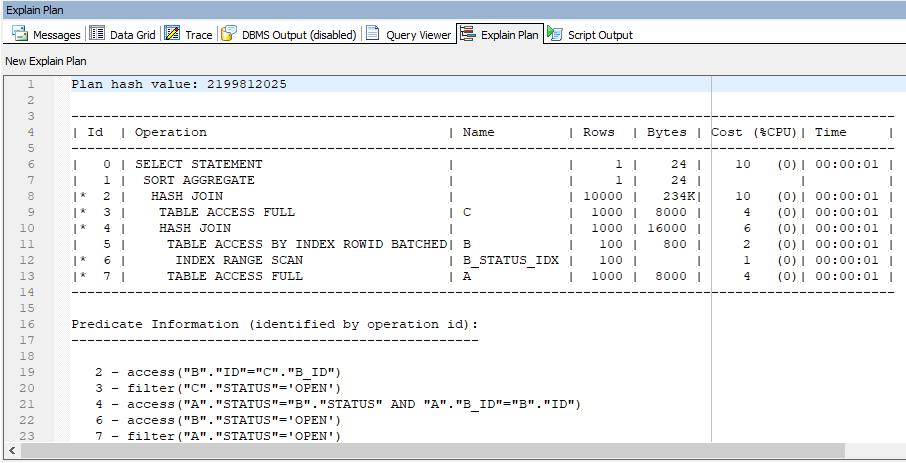 Toad Explain Plan DBMS_XPLAN Display