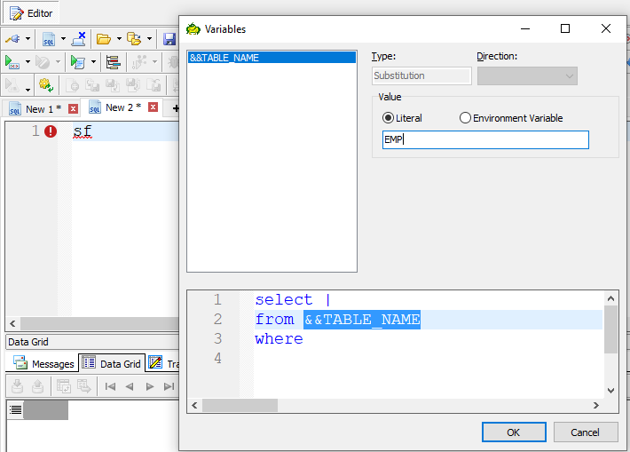 Your Own SQL Code Template in Action.