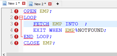 Toad for Oracle PL/SQL Template with variable substitution.