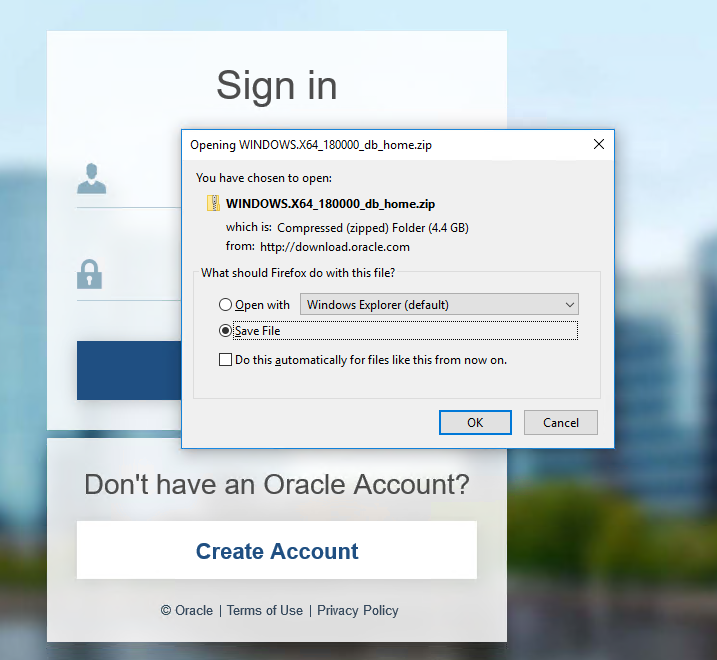 How to Install Oracle Database 18c on Windows