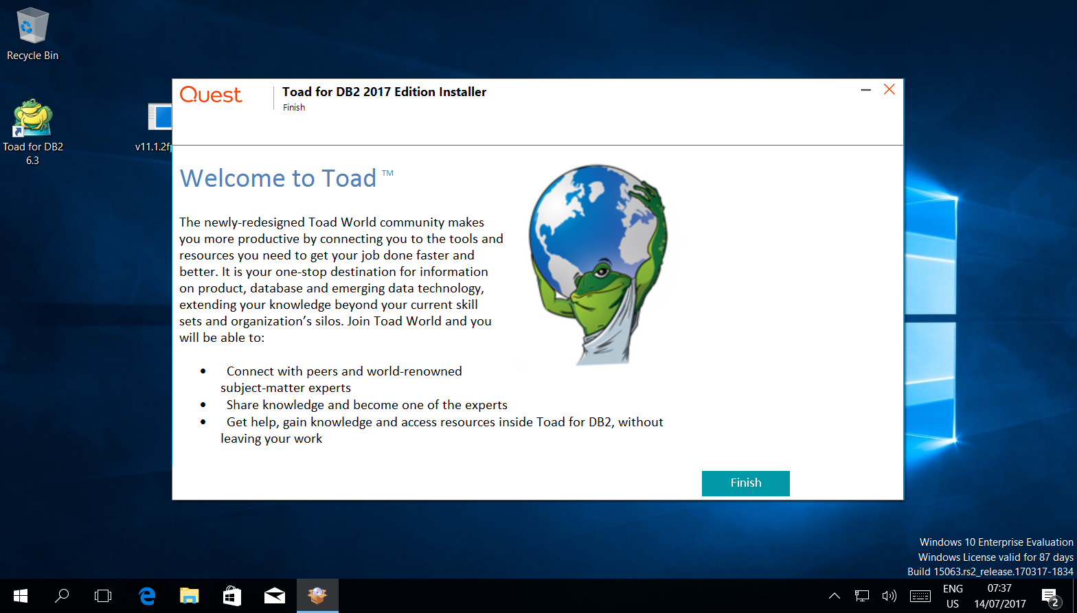 Install Toad for DB2 version 6 3 using IBM Data Server Driver