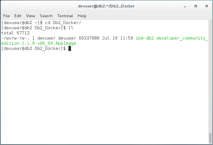 How to install IBM Db2 Developer Edition on Centos 7 using Docker