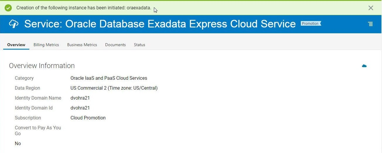 Using Oracle Database Exadata Express Cloud Service with Toad for Oracle