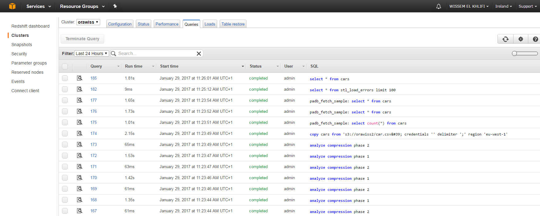 AWS Big Data Services in the Cloud Part 2: Amazon Redshift