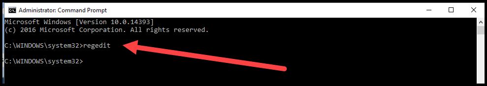 Start the windows registry editor.