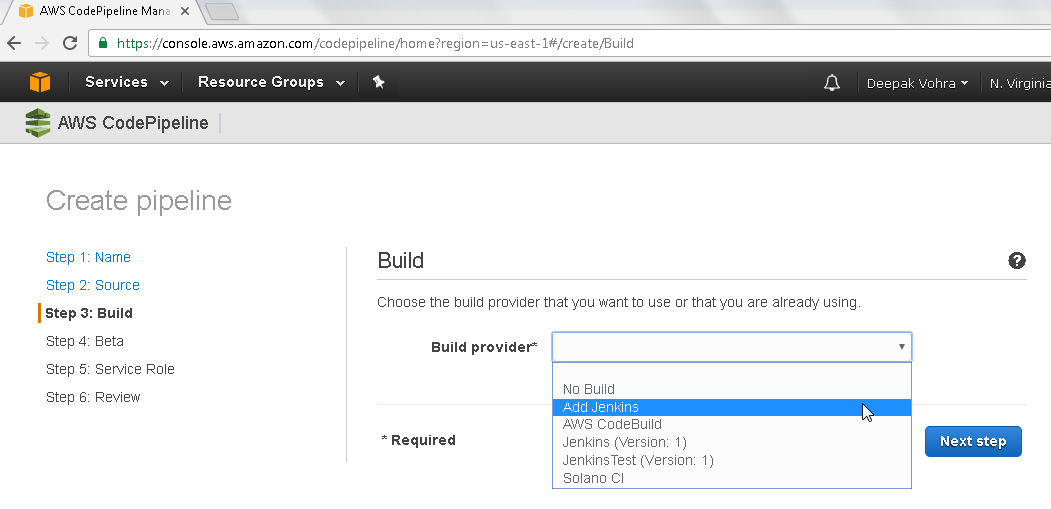 Developing an AWS CodePipeline for Continuous Integration