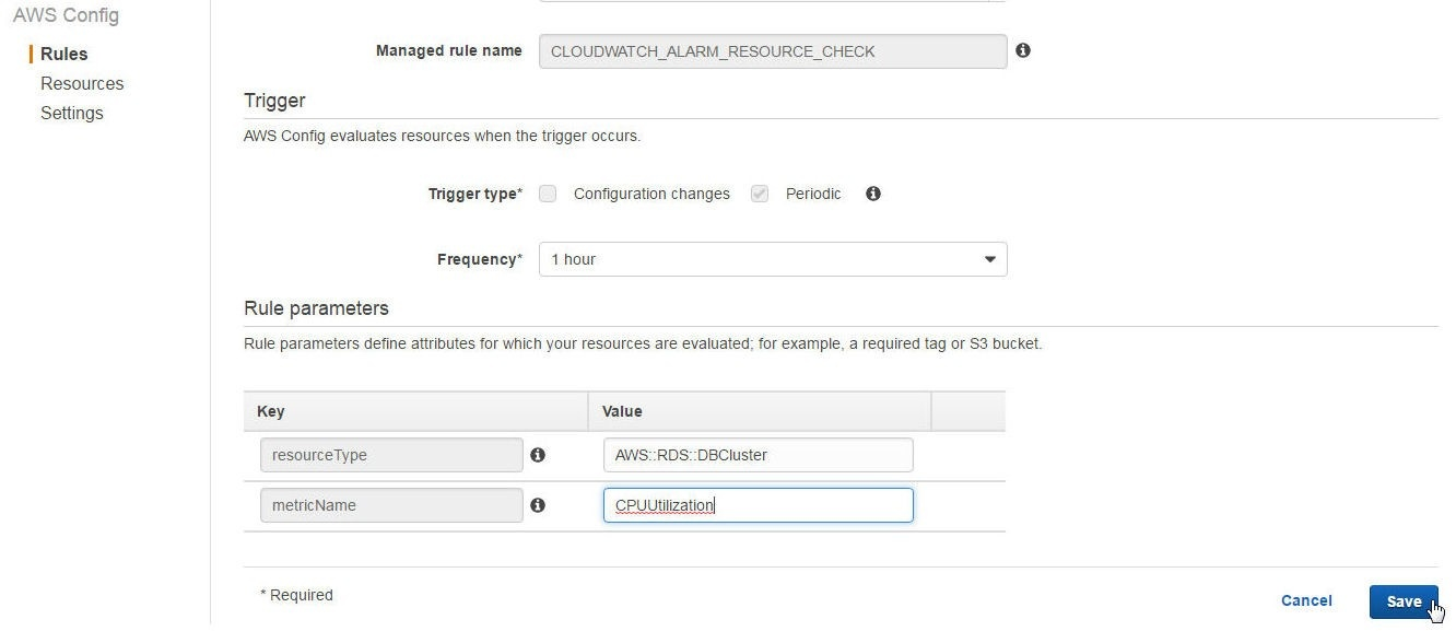 Monitoring and Evaluating Database Configurations with AWS