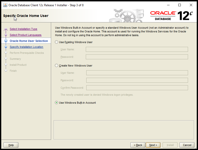 Oracle 11g/12c Client Install on Windows: Lightweight and Locked Down