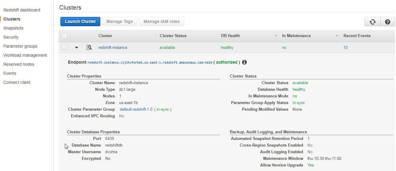 Using Amazon Redshift with Toad Data Point - Part II