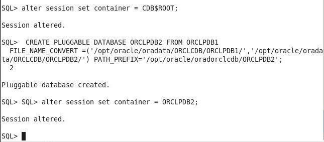 Modularization by using Oracle Database Containers and PDBs on